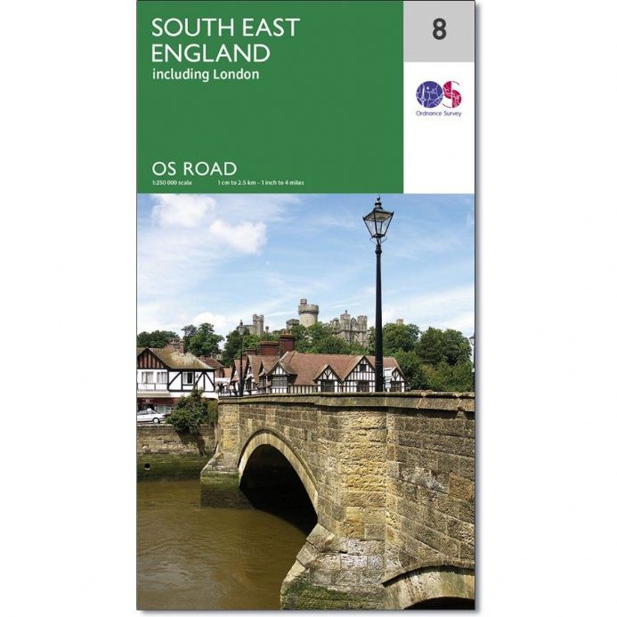 Ordnance Survey Road Map 8 - South East England